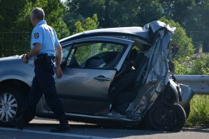 Rear end automobile accident